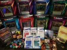 Commander MTG Collection Bundle EDH Magic Lot Dice Sleeves Rares Packs + More!!