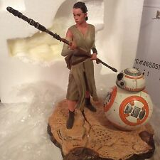 Star Wars FORCE AWAKENS Limited Edition Rey And BB8 Light Up & Sounds Figurine