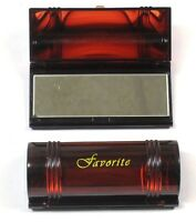 "Lot of  2, 4, 12---Tortoise Color  Lipstick Case With Mirror ,Size- 3.5"" X 1.5"""