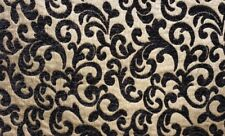 """Chenille 57"""" Wide Black Upholstery Stanton Drapery fabric sold by the yard"""