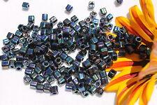 4mm Cube Toho  7-Metallic Rainbow Iris  28 grams # 86