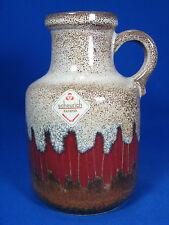 Beautiful 70´s design Scheurich Pottery Vaso in ceramica 414 - 16 ZIG ZAG Glaze