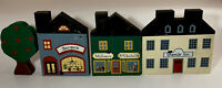 The Cats Meow Village Lot Of 3 Store Front Buildings