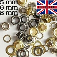 10x Eyelets with Washers Grommets DIY Leather Craft Bags Various Sizes