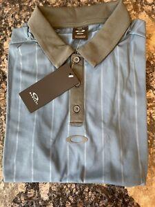 Oakley Men's SMALL Vertical Stripes Short Sleeve Polo Shirt SHIPS FREE! $65 MSRP