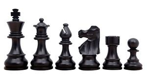 """French Lardy Chess Pieces Staunton Ebonised Boxwood 3.75"""""""