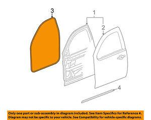 GM OEM Front Door-Surround Weatherstrip Seal Left 22766409