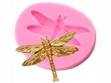 Dragonfly Hornear Molde Molde Fondant Glaseado Cupcake Topper M284