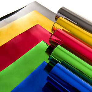 Chrome Vinyl Wrap All Colours - Self Adhesive - Highly Reflective - ALL SIZES