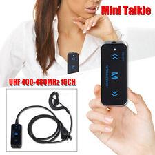 Mini 2pcs Walkie Talkie UHF 400-480MHZ Radio 16CH 0.5W+Earphone 500mAh Battery