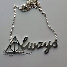 Beautiful silver deathly hallows always necklace. Dumbledore's army Harry snape