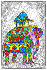 Painted Elephant - Giant Coloring Poster (32½ x 22 Inches)