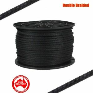 12mm x 50M Double Braided Polyester Rigging Line Yacht Rope Boat Mooring