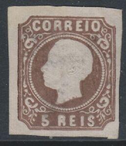 Portogallo - 1862/4,5r Marrone - Tipo II - 4 Margini - Mint Nessun Gomma - Sg 26