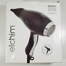 Elchim Professional 3900 Healthy Ionic Dryer Black Gold ~2400w Lifetime Warranty