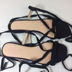 Black Women's Witchery Flat Sandal Shoes Size 39 ( 8 Australian)