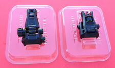MAGPUL MBUS Pro Flip-Up FRONT & REAR Sight STEEL- Black