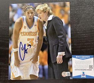 CANDACE PARKER signed Chicago Sky WNBA 8X10 photo BAS COA Autograph Pat Summitt
