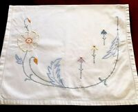 VINTAGE EMBROIDERED WHITE COTTON NIGHTDRESS CASE CUSHION COVER