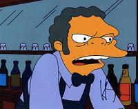 Hank AZARIA SIGNED Autograph 10x8 Photo AFTAL COA Moe SZYSLAK The Simpsons