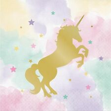 Unicorn Sparkle Foil Stamped Luncheon Napkins-16 Count-3 PLY