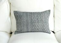 THE CORA | 12 X 18 Lumbar | Authentic Mud Cloth Pillow Cover