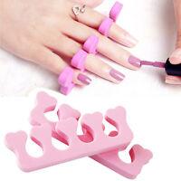 HOT  10Pcs Soft Sponge Foam Art Finger Toe Manicure Pedicure Separator Nail Tool