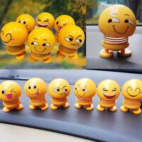 Spring Cute Smiley Doll Car Ornament Interior Dashboard Decor Bounce Toys