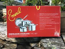 New listing emeril stainless steel cookware. 7 Pieces New In Box. Add Pictures