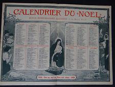 Calendrier du NOEL1929 calendar France Post calendario Kalender XMAS Christmas