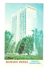 Toronto, Canada, Downtown Ramada Hotel Postcard 22296R, Unposted, Fountain,Trees