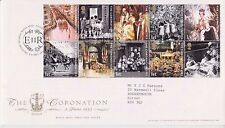 GB ROYAL MAIL FDC FIRST DAY COVER 2003 CORONATION ANNIVER STAMP SET TALLENTS PMK