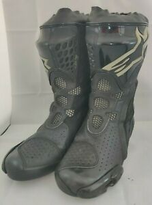 Alpinestars Supertech R Motorcycle Motorbike Boots Black Size 7.5 UK 8 US 42EU