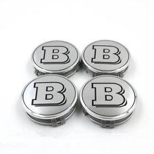 4 PC SET Mercedes Benz Wheel Center Caps Emblem CHROME BRABUS Logo Hubcaps 75MM