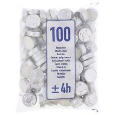 LOT DE 100 X BOUGIE CHAUFFE-PLATS - ENV. 4 HEURES - 100% NEUF