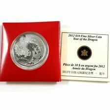 2012 canada dragon silver $10 coin