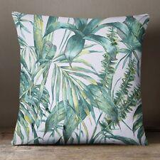 S4SassyB Throw Pillow CaseB Foliage Pattern White Square Cushion Cover