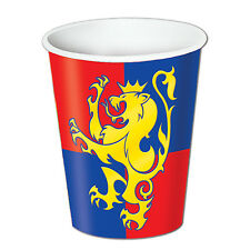 Medieval Paper Party Cups - Pack of 8 9oz Cups - Knights Party Tableware
