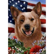 Patriotic (1) House Flag - Red Australian Cattle Dog 16281