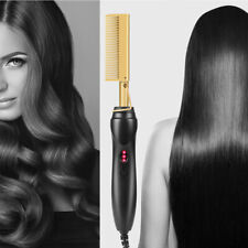 Electric Straightener Hair Comb Wet&Dry Curling Iron Hot Hair Flat Tools USA RHN