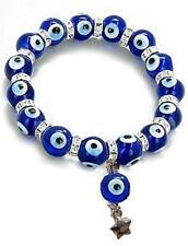 Swarovski Crystal Evil Eye Protection Lucky Charm Nazar Bracelet Mavi Boncuk
