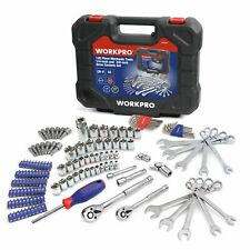 145 piece mechanics tool set Sockets Wrenches Screwdrivers Chrome SAE and METRIC