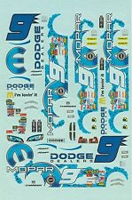 Decal 1:32 Dodge  Kasey Kahn NASCAR No. 9 waterslide Decal