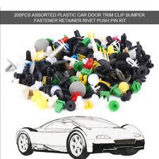 200pcs Assorted Car Body Trim Clip Bumper Fastener Retainer Rivet Push Pin Kit