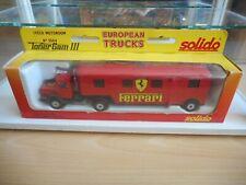 """Solido Iveco + Trailer """"Ferrari"""" in Red in Box"""