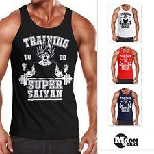 Herren Tanktop Son Goku Super Saiyajin Saiyan Training Gym Muskelshirt Moonworks