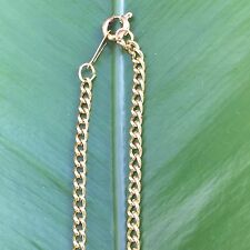 18CT yellow gold GF fine ladies yellow gold chain necklace