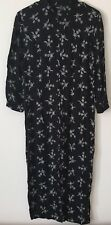 Carole Little Dresses Size 10 Black with White Flower Print Chinese Knot Button