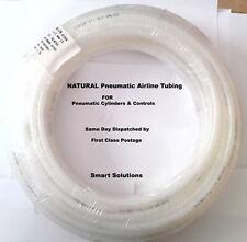 8mm 1 METRE NATURAL PNEUMATIC TUBING PIPE COMPRESSED AIRLINE PIPE ROBOTICS AIR