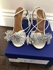Aquazurra Wild Thing Leather Fringe Heels - Orig $785
